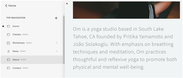 How to build an About page for Yoga website