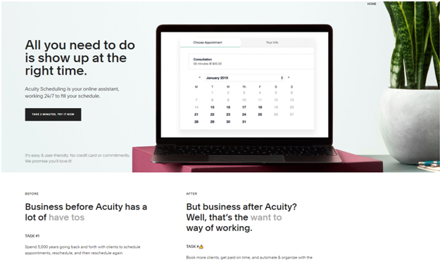 Acuity-scheduling software