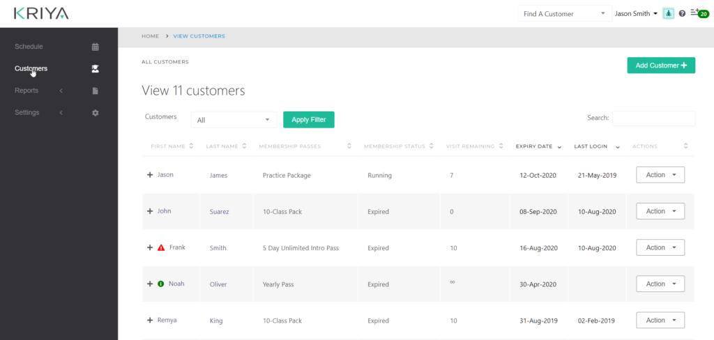 All Customers -KRIYA Software