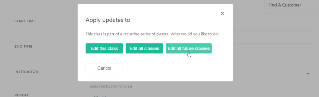 Apply Class Updates to Future Classes