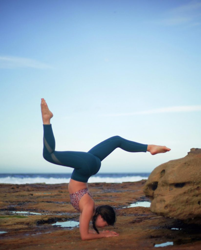 Bella yoga by the sea