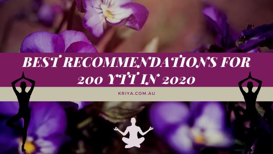 Best Recommendations For 200 YTT In 2020
