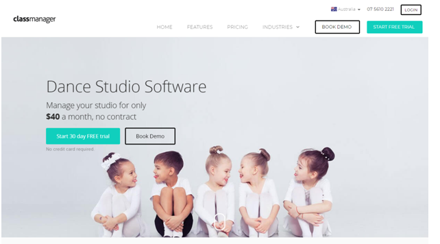 Class manager kids dance school software
