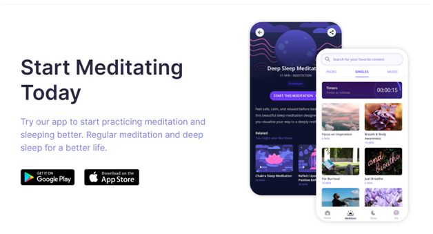 Deep Meditate yoga app