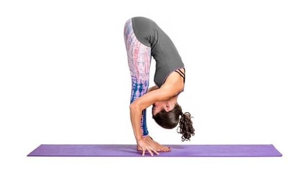 Forward bend yoga
