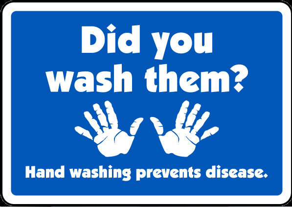 Hand wash signs
