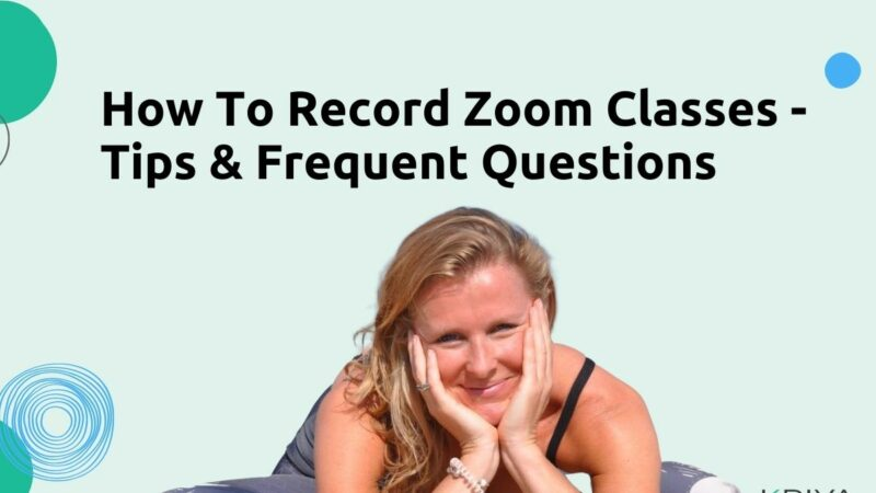 How To Record Zoom Classes