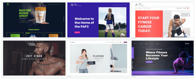 Create your website at Wix using free templates