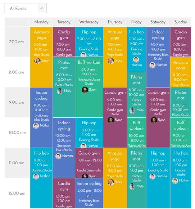 How to make a yoga studio schedule