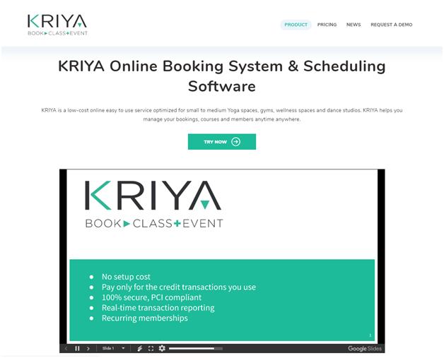 Try KRIYA Booking for yoga classes all free
