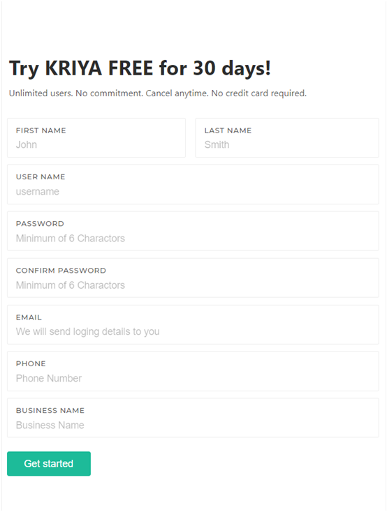 How to join KRIYA online booking system in three steps?