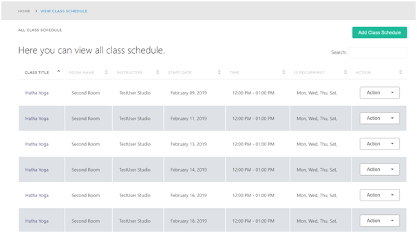 Create class timetable