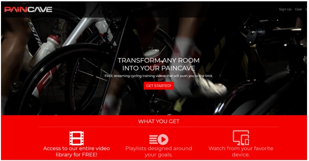 Paincave Indoor cycling app
