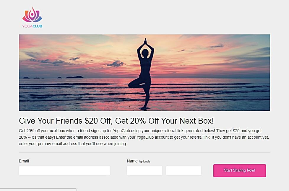 referral bonus at yoga studios