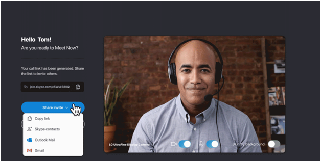 Skype Meet Now Feature