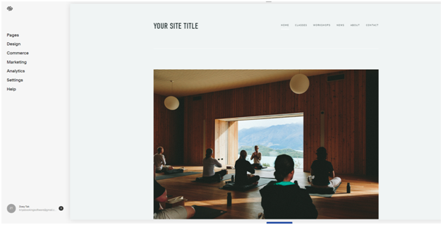 Start building your yoga website