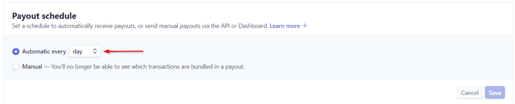 Stripe Payout Schedule Every Day