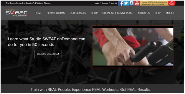 Studio Sweat on demand app