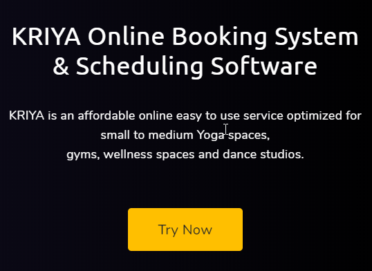 Try Now KRIYA Online Booking System Yoga and Pilates