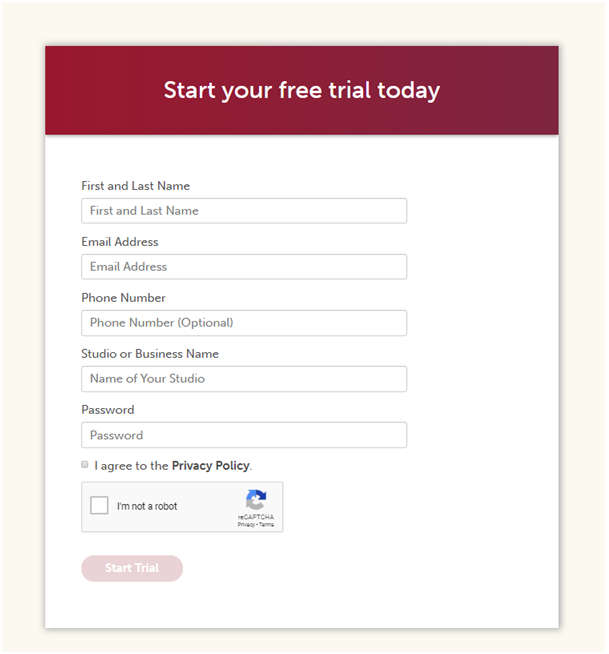Free Trial to start Tula Yoga Software