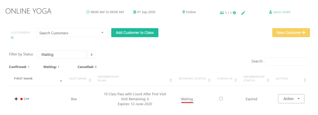 Waiting List Status - KRIYA Software