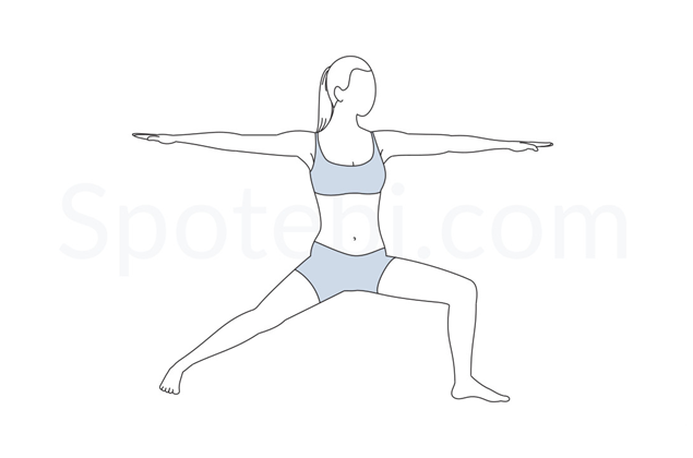 Warrior II prenatal yoga pose