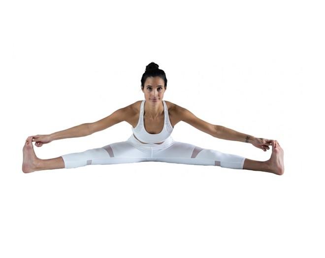 Wide Angle forward bend or Upavistha Konasana