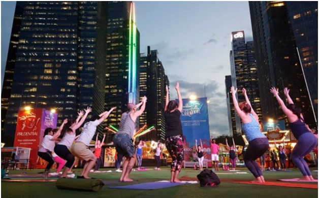 Free Yoga And Zumba Sessions At The Prudential Marina Bay Carnival