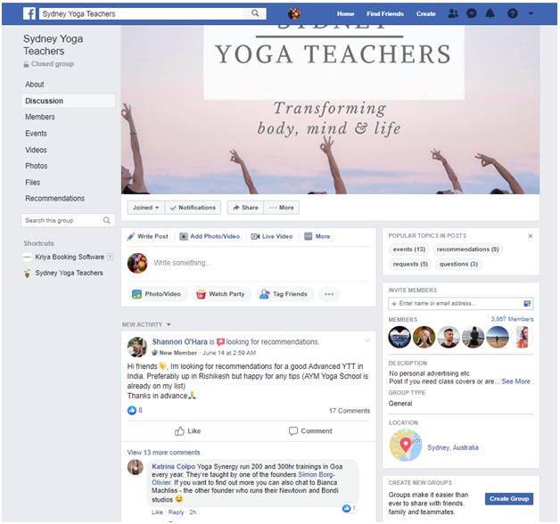 Yoga online forums