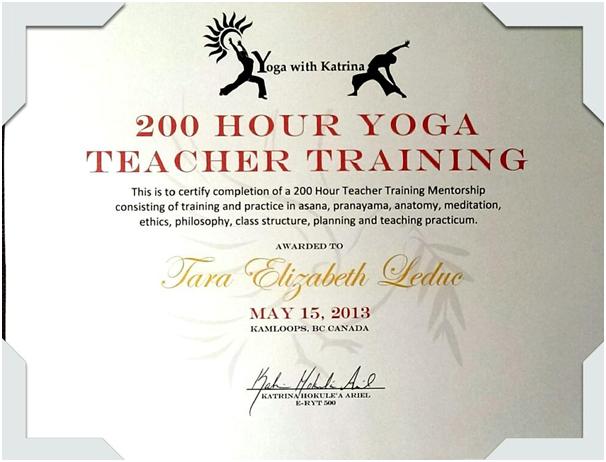 Yoga license