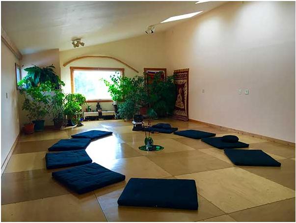 Zen yoga studio decor