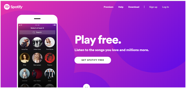 Spotify play free music