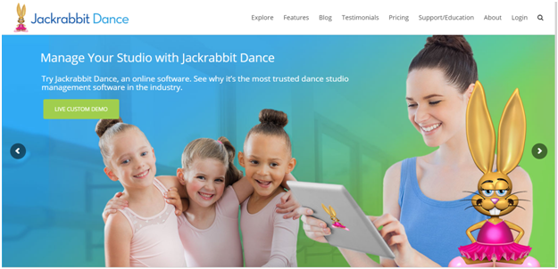 Jackrabbit dance studio software