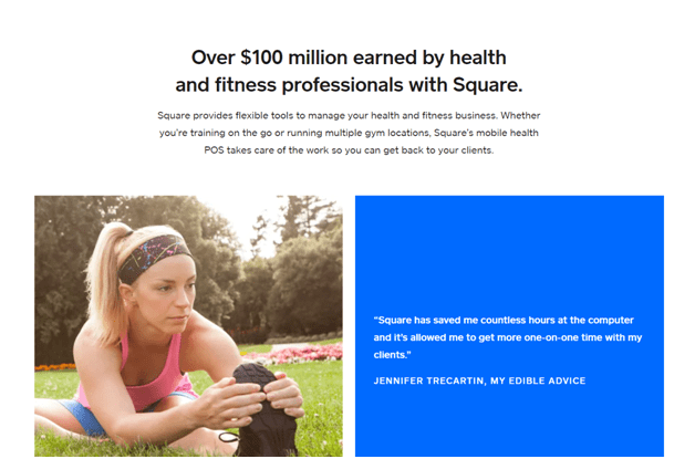 Square for yoga and pilates