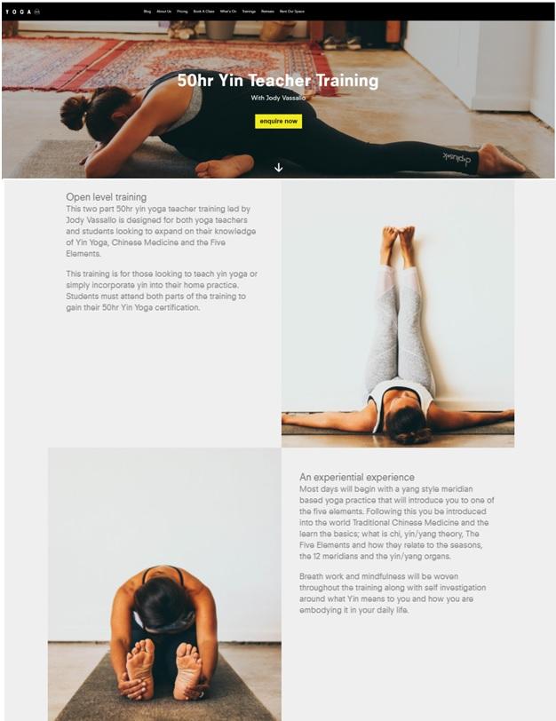 Yin Yang yoga studios in Australia